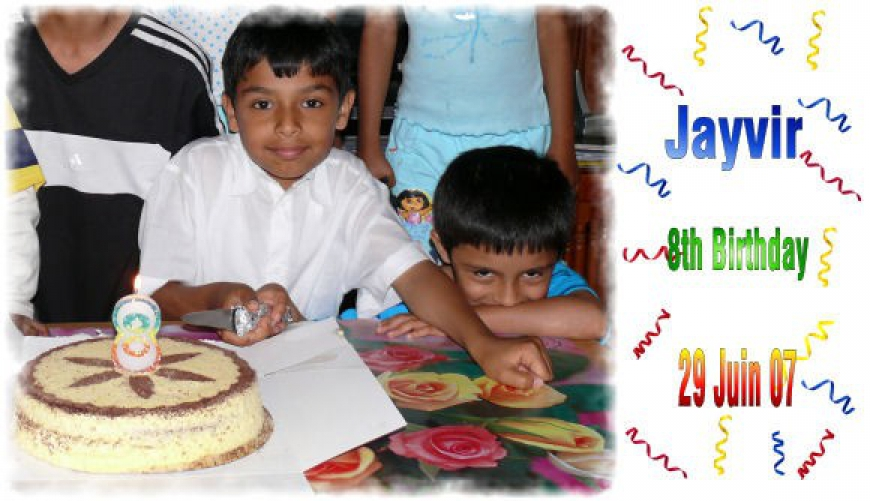 Jayvir 8th Birthday - 2007