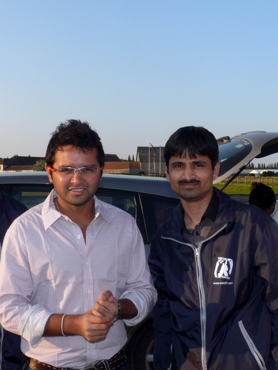 Parthiv Patel visit our cricket ground