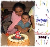 Rajvir 2nd Birthday - 2004